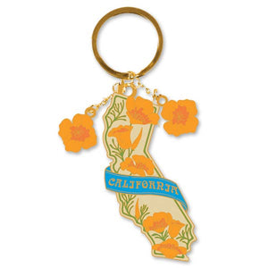 California Poppy Keychain
