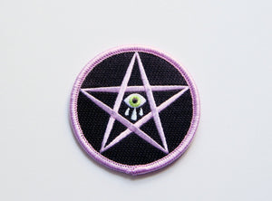 Sad Star Embroidered Patch