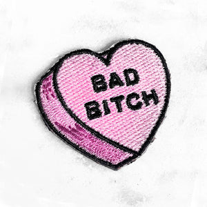 Candy Heart Patch Bad Bitch