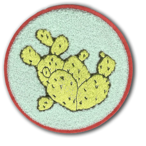 Prickly Pear Chenille Patch