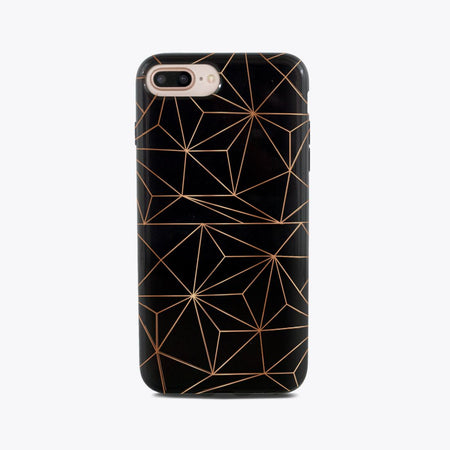 Geometric Copper iPhone Case
