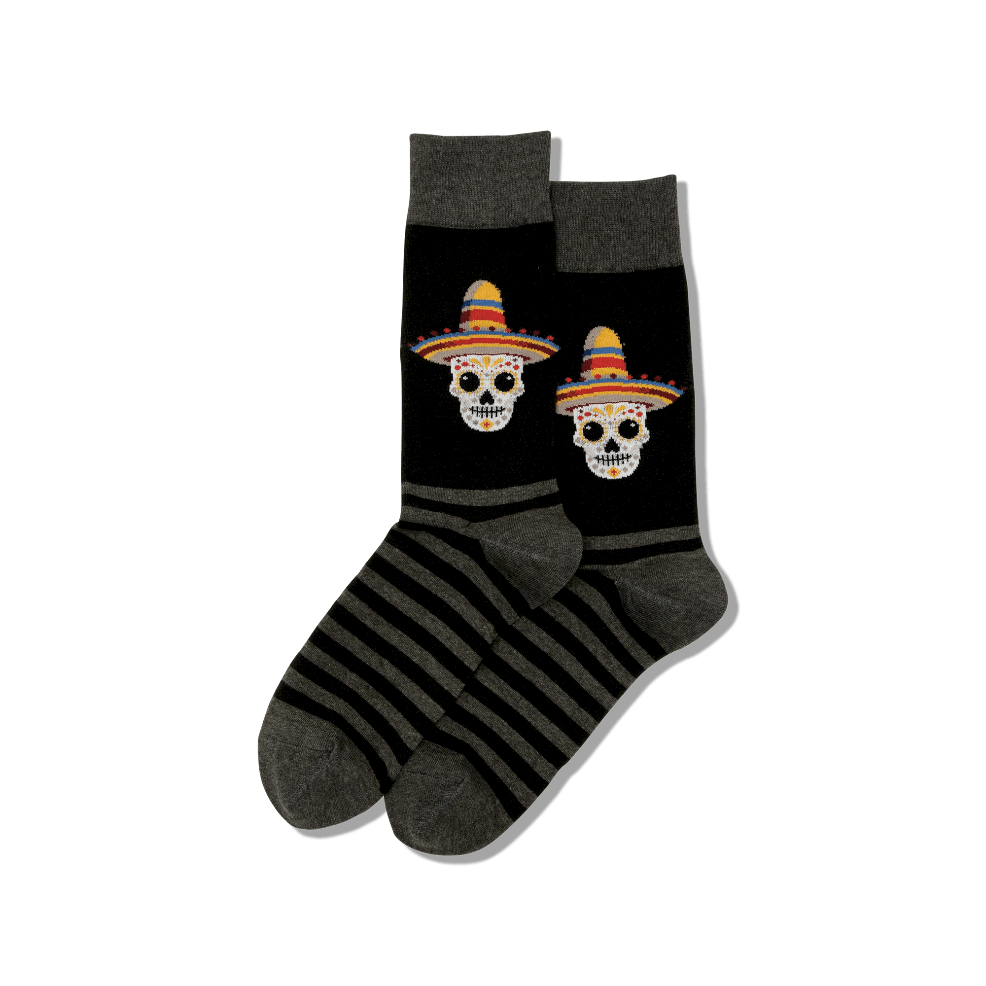 Men's Sombrero Sugar Skull Crew Socks