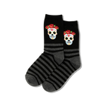 Women's Calavera Striped Sock