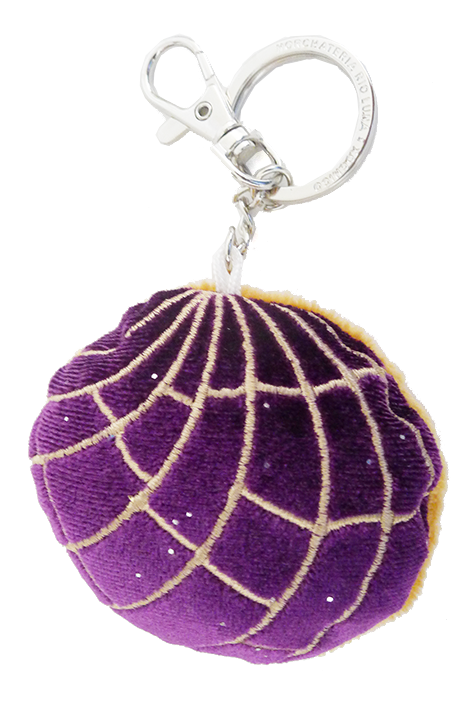 Plush Concha Key Chain