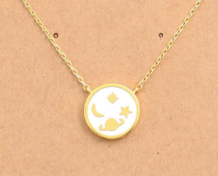 18K Gold Dipped Universe Necklace
