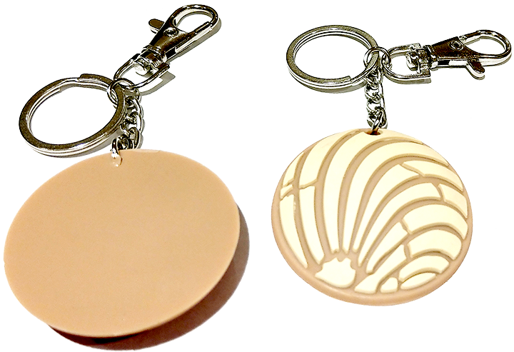 Rubber Pan Dulce Key Chain