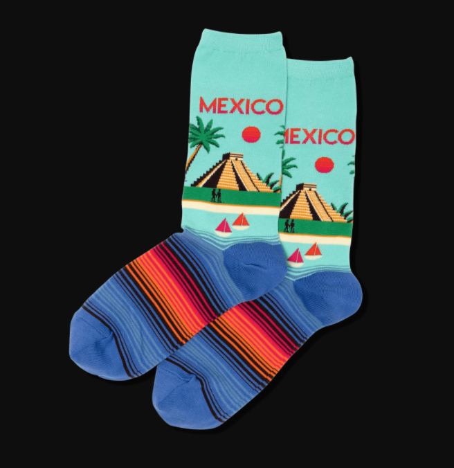 Women's Mexico Crew Socks