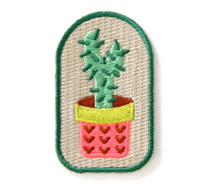 Cactus Planter Iron on Patch