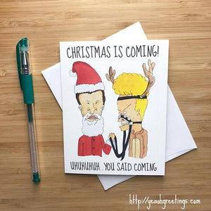 Beavis and Butthead Christmas Card