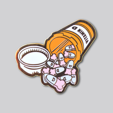 Vitamin D Enamel Pin