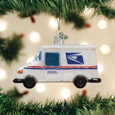 Usps Mail Truck Ornament