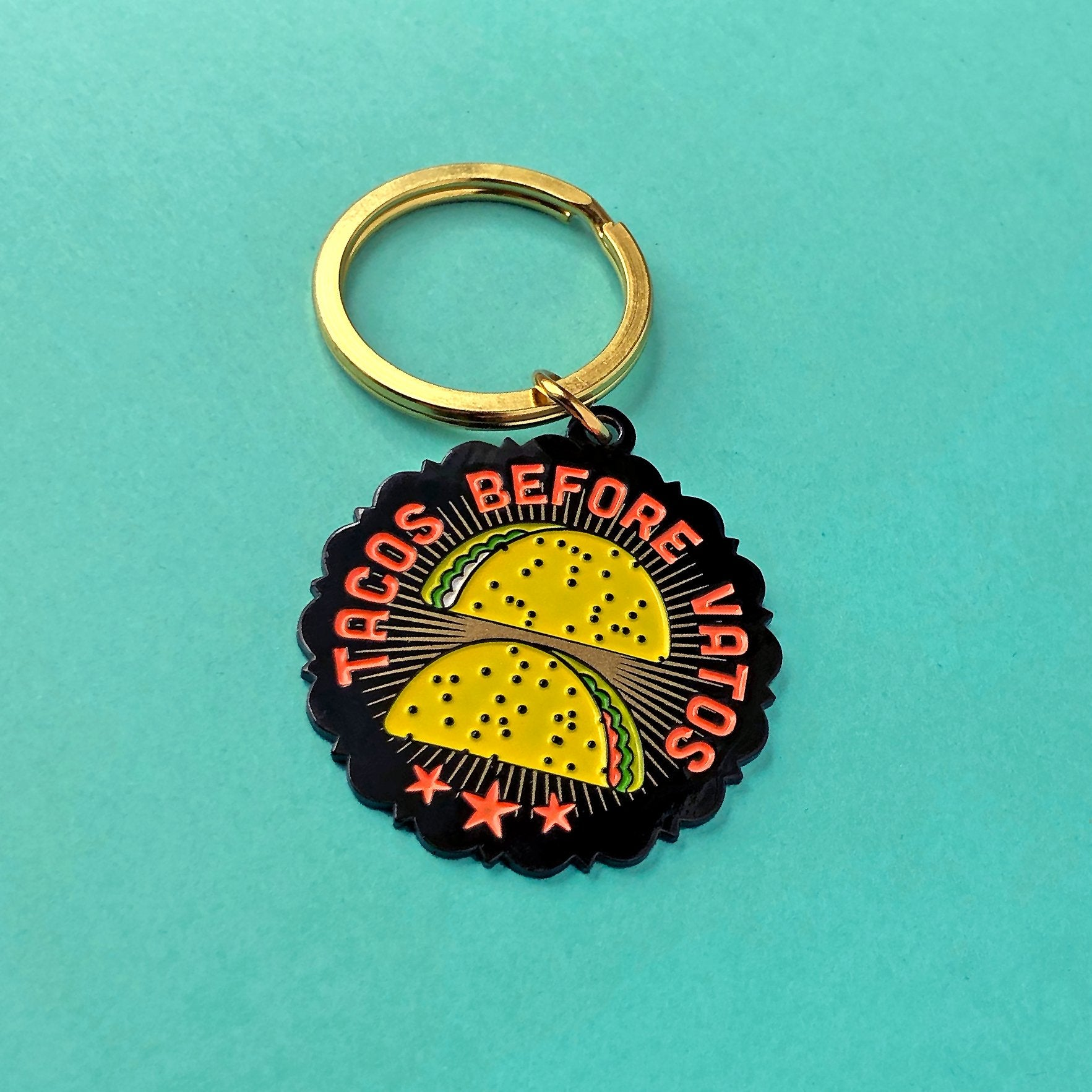 Tacos Before Vatos Keychain
