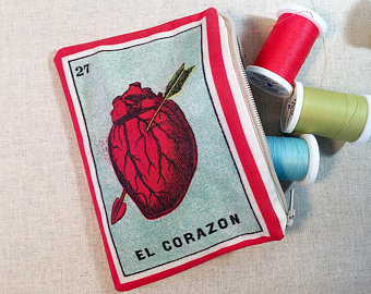 Vintage Loteria Pouch