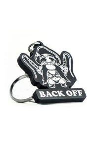 Back Off Keychain