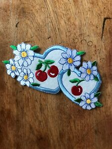 Vintage Cherry Heart Patch
