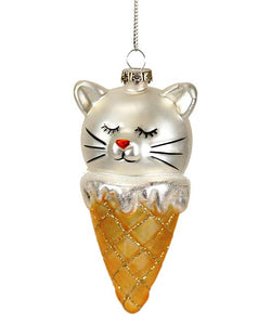 Kitty Cone Ornament