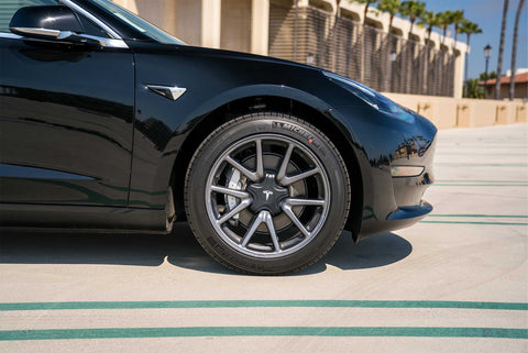 Custom Aero Wheels Black And White Kit Tesla Model 3