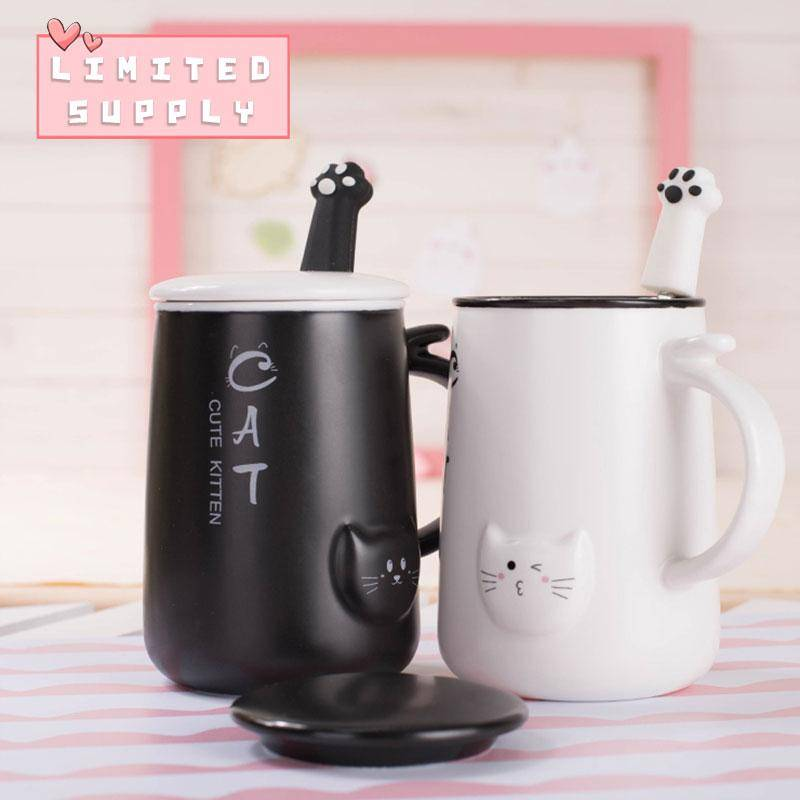 Spoon Gift Lovers For With Cat Coffee Mug PnOkw0