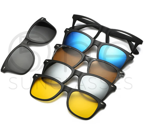 Unisex 5 in 1 magnetic sunglasses