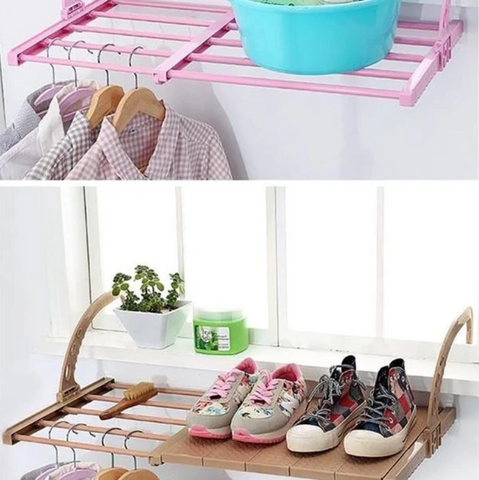 Adjustable Folding Clothes Drying Rack