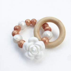 Rose Gold Teething Ring Collection