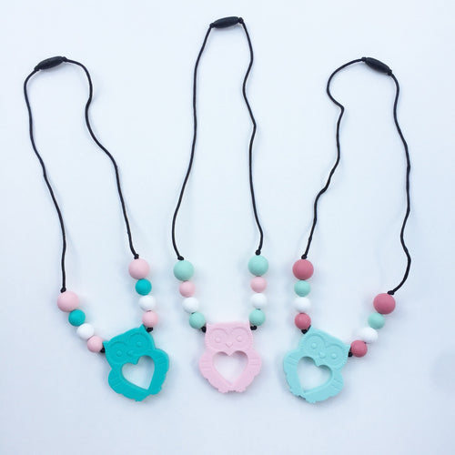 Owl Teething Necklace