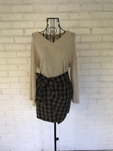 Tie One On Plaid Mini Skirt - KLOTH & CO