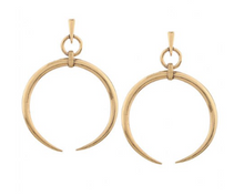 Load image into Gallery viewer, Athena Moon Gold Hoop Earrings - KLOTH & CO
