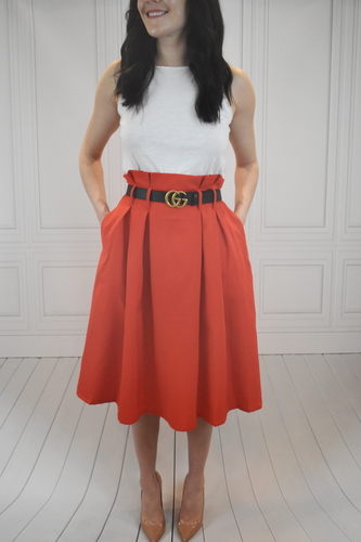 Make Your Own Luck Red High Waisted Skirt - KLOTH & CO