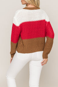 Easy Street Color Block Sweater - KLOTH & CO