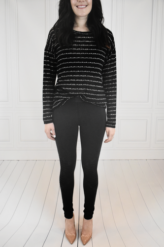 Earn Your Stripes Sheer Sweater - KLOTH & CO