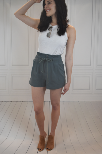 Draw You In Teal High Waisted Shorts - KLOTH & CO