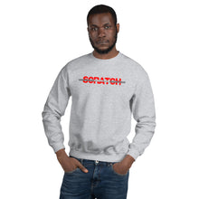 "Load image into Gallery viewer, ""Started From Scratch"" Unisex Sweatshirt w/gray stripe"