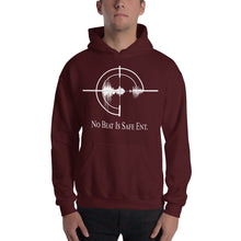 Load image into Gallery viewer, No Beat Is Safe Ent. Unisex Hooded Sweatshirt w/ white emblem