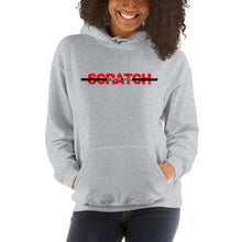 "Load image into Gallery viewer, ""Started From Scratch"" Unisex Hooded Sweatshirt w/black stripe"