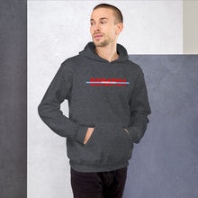 "Load image into Gallery viewer, ""Started From Scratch"" Unisex Hooded Sweatshirt w/blue stripe"