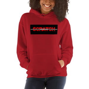 """Started From Scratch"" Unisex Hooded Sweatshirt w/black background and gray stripe"