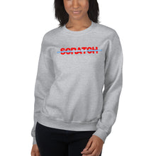 "Load image into Gallery viewer, ""Started From Scratch"" Unisex Sweatshirt w/blue stripe"