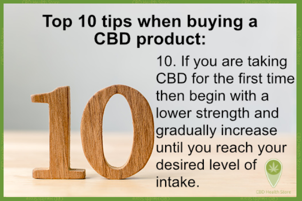 CBD shopping! Here are the top 10 tips when buying a CBD product in the UK.