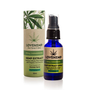 Love Hemp 400mg CBD Oil Spray - 30ml bottle