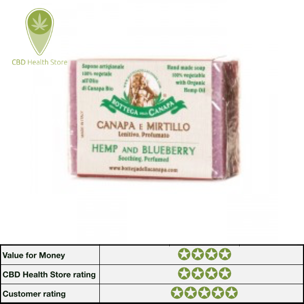Bottega Della Canapa Hemp Soap - Blueberry