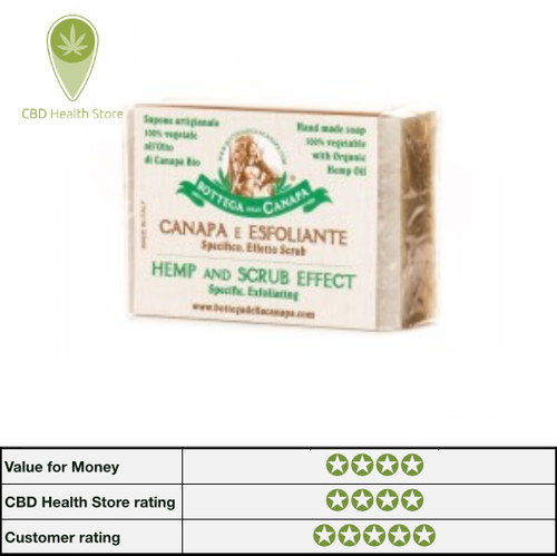 Bottega Della Canapa Hemp Soap - Scrub Effect