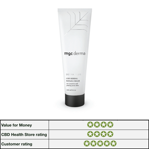 CBD Herbal Repair Cream For Sensitive And Flaking Prone Skin by MGC Derma image with review