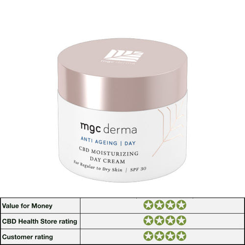 CBD Moisturising Day Cream - For Regular To Dry Skin SPF 30 - by MGC Derma
