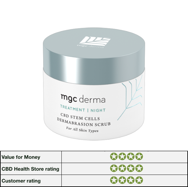 UK Beauty CBD STEM CELLS DERMABRASION SCRUB ALL SKIN TYPES by mgc derma image