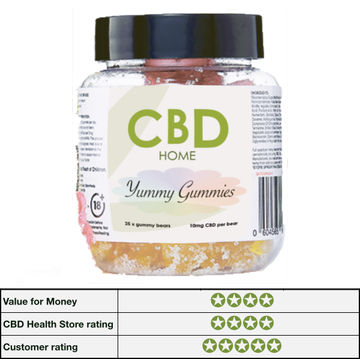 CBD Home Yummy Gummies - 25 gummy bears, 20mg CBD per sweet
