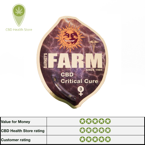 Barney's Farm and CBD Crew - CBD Critical Cure - 5 seeds - Feminised
