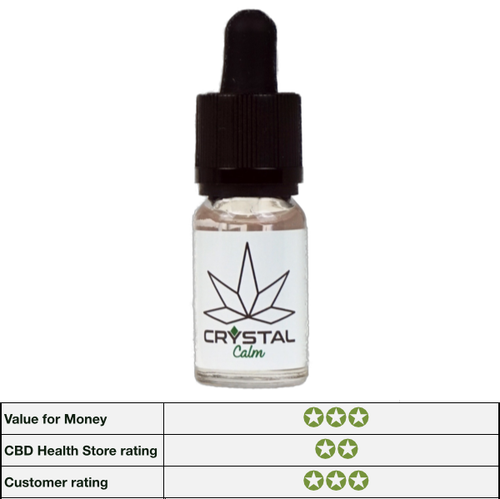 CBDLife Crystal Calm CBD E-Liquid 200mg - 10ml bottle