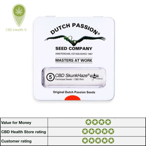 Dutch Passion and CBD Crew CBD Skunk Haze - 5 seeds - Feminised