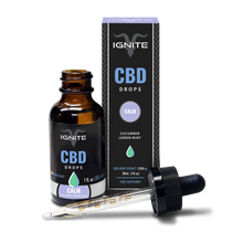 CBD Oil Drops | Ignite | Cucumber Lemon and Mint | 1200mg | 30ml bottle